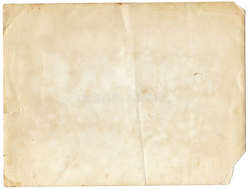 Oud verfrommeld document royalty-vrije stock fotografie