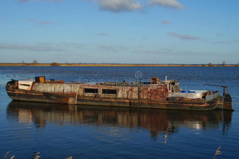 Oud verlaten schip - Phantom Ship stock fotografie