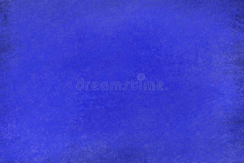 Oud verontrust donker saffier blauw ontwerp als achtergrond met langzaam verdwenen grunge textuur stock illustratie