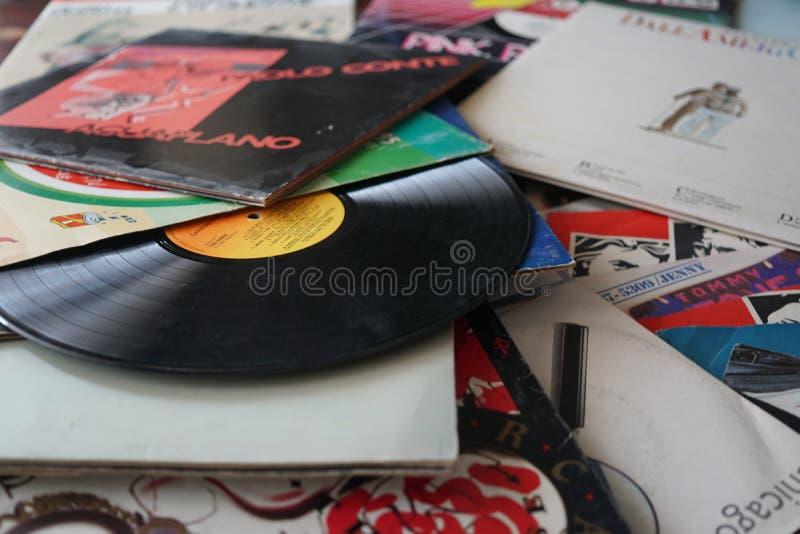 Oud vinyl stock foto's