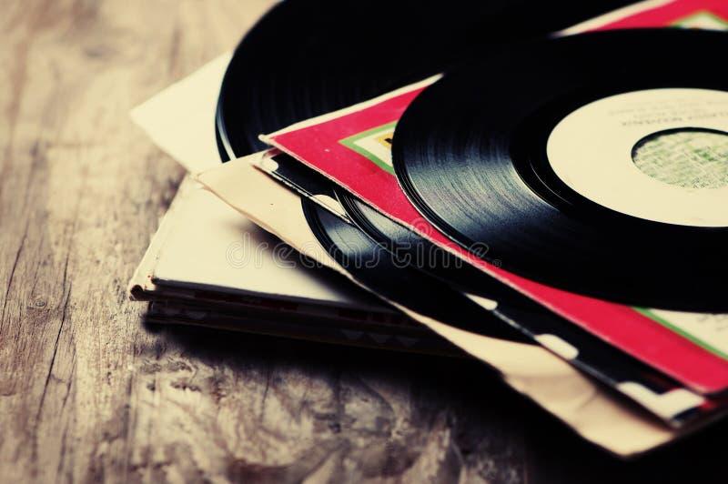 Oud Vinylverslag royalty-vrije stock afbeelding