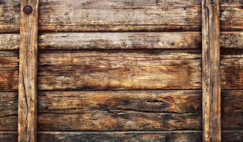 Oud vuil houten breed paneel dat als grunge geweven bedelaars wordt gebruikt als achtergrond royalty-vrije stock foto's