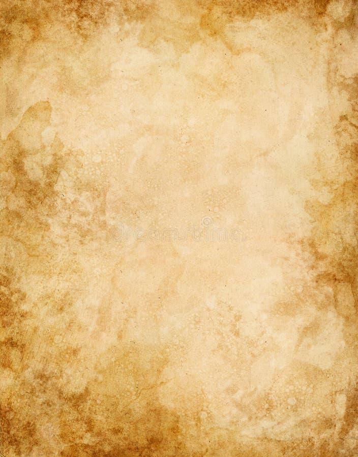 Oud Water Bevlekt Document stock illustratie