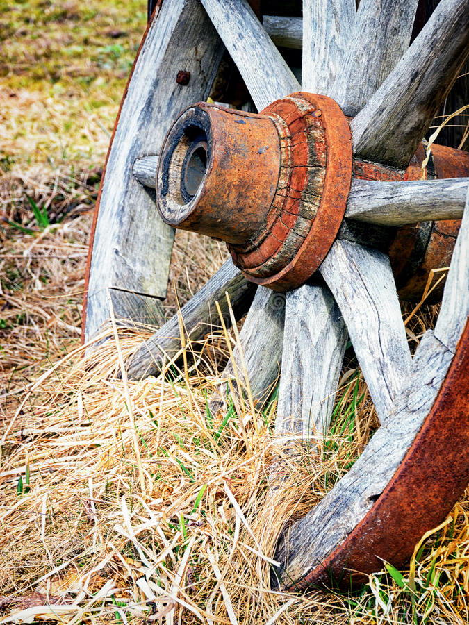 Oud wiel stock foto