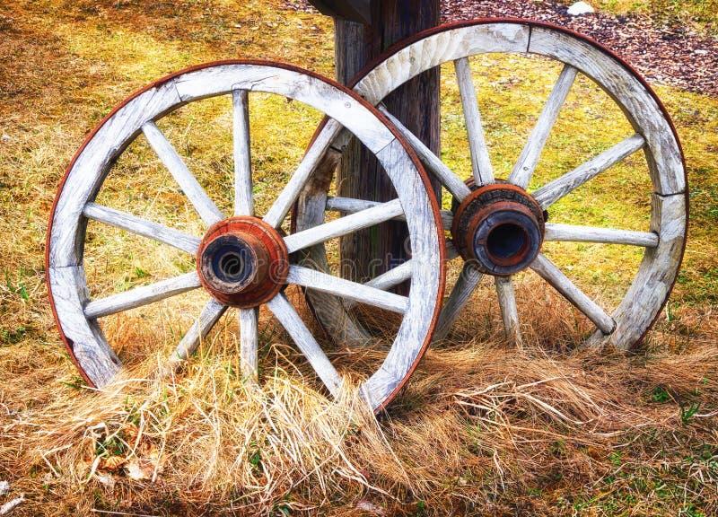 Oud wiel stock fotografie