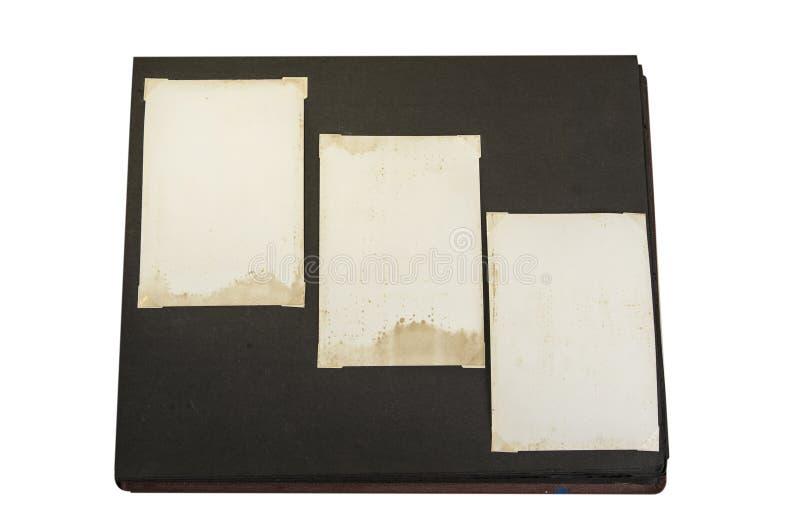 Oud wijnoogst bevlekt document op de zwarte achtergrond stock afbeelding