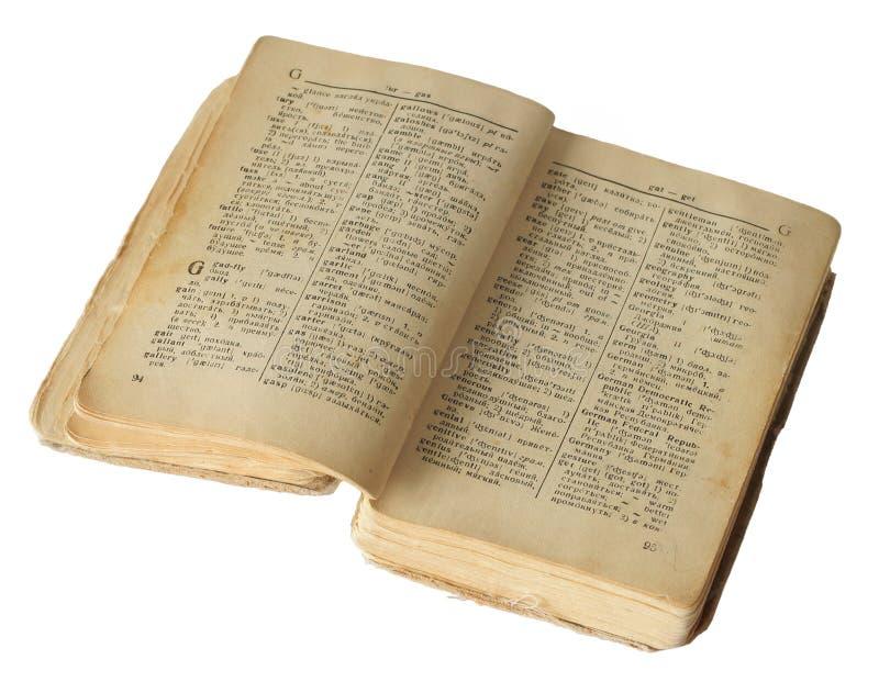 Oud woordenboek stock foto's