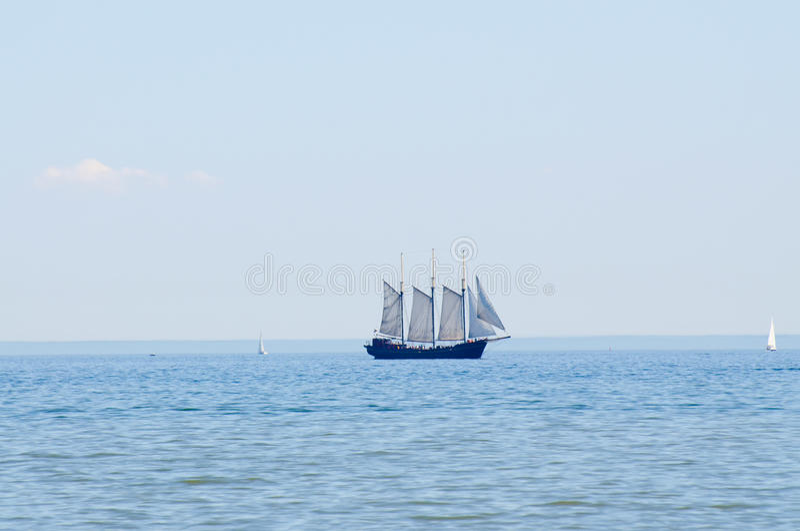 Oud zeilschip stock foto