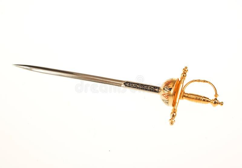 Oud zwaard royalty-vrije stock foto's