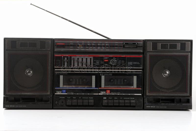 Oude 1980 StereoBoombox Hifi royalty-vrije stock afbeelding