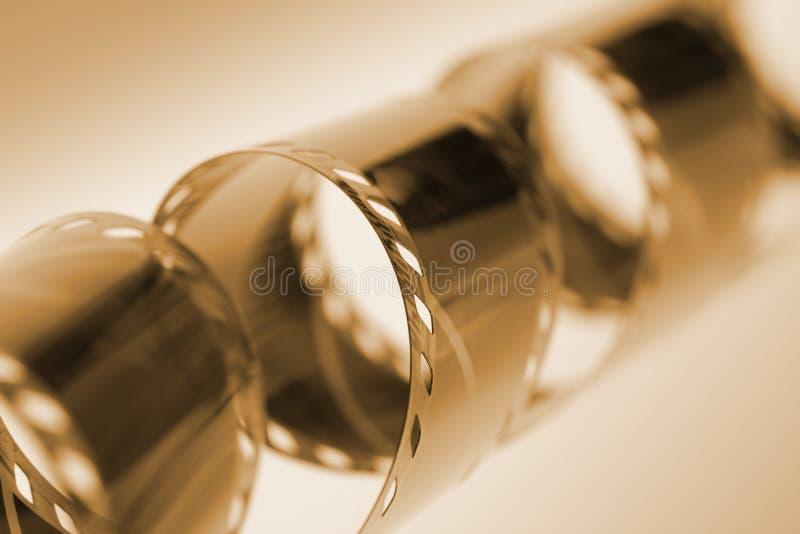 Oude 35mm filmstrook royalty-vrije stock afbeelding
