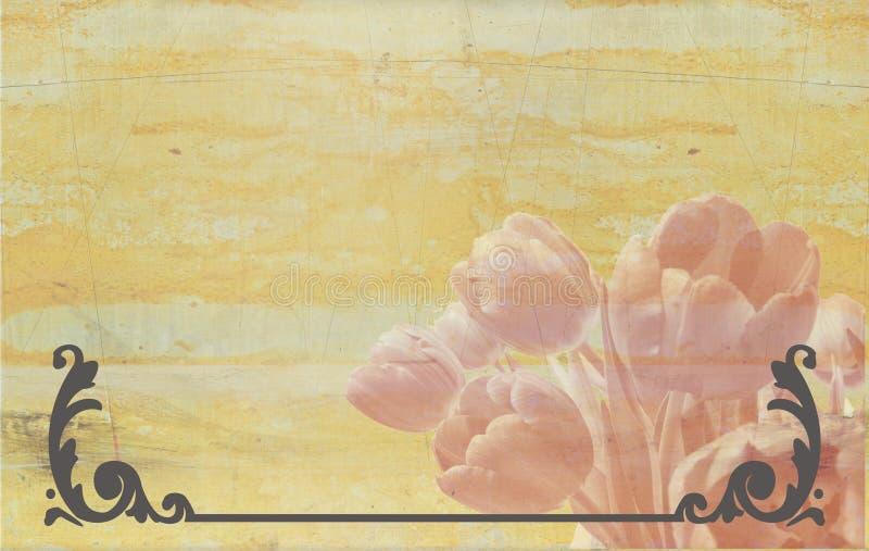 Oude achtergrond stock illustratie