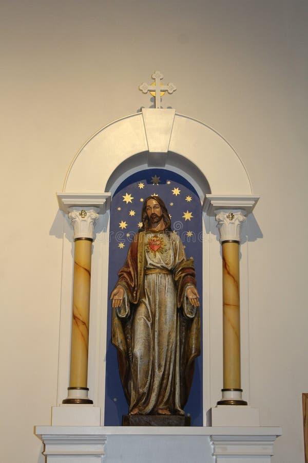 Oude Adobe-Opdracht, Onze Dame van Eeuwige Hulp Katholieke Kerk, Scottsdale, Arizona, Verenigde Staten royalty-vrije stock afbeeldingen