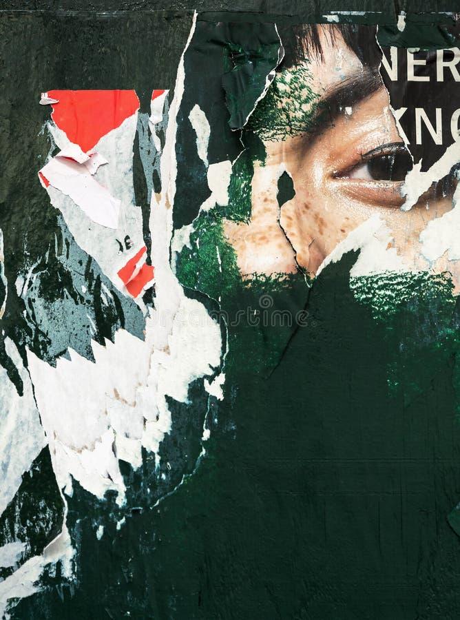 Oude affiches grunge texturen en achtergronden royalty-vrije stock afbeeldingen