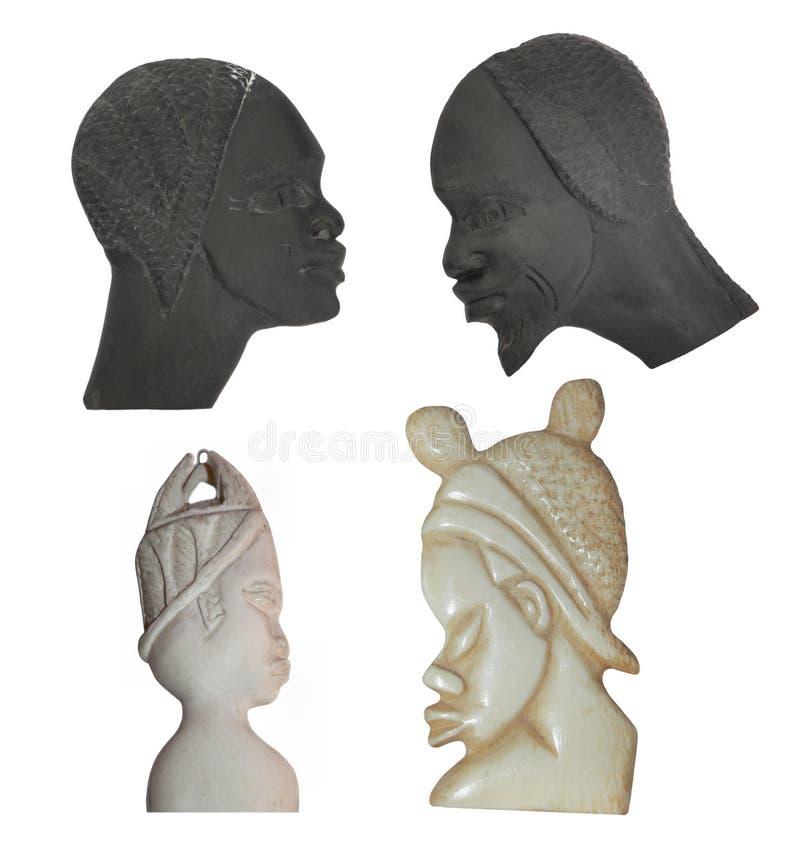 Oude Afrikaanse Cijfers royalty-vrije stock foto