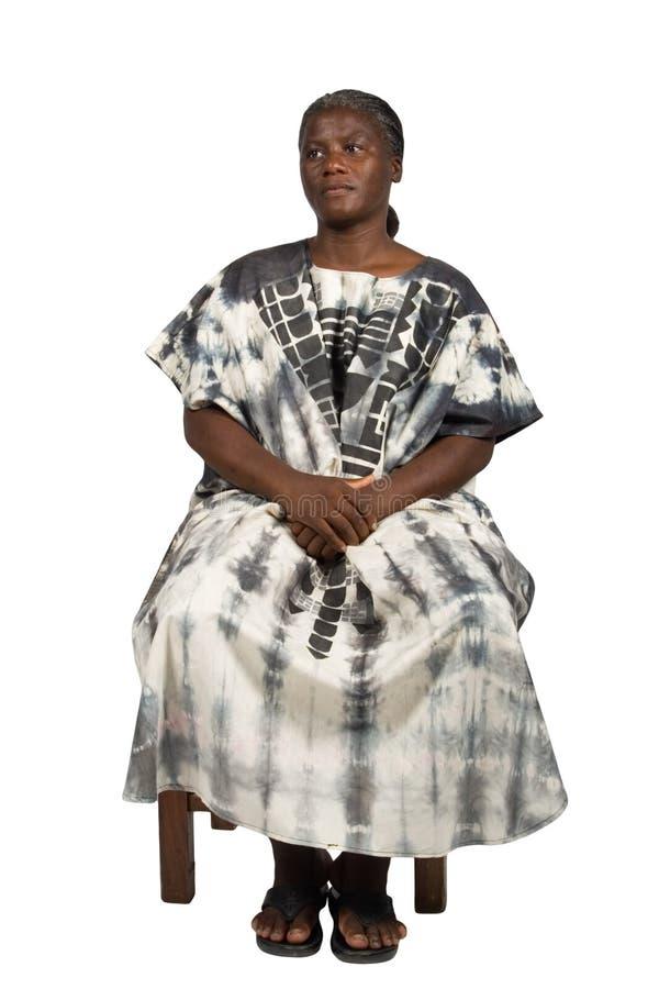 Oude Afrikaanse vrouw stock fotografie