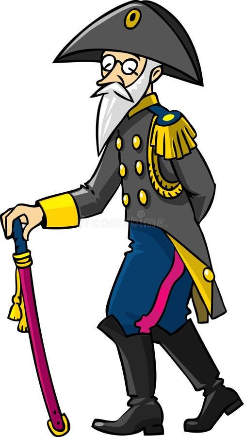 Oude algemeen of ambtenaar stock illustratie