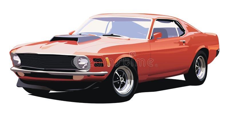 Oude Amerikaanse auto royalty-vrije illustratie
