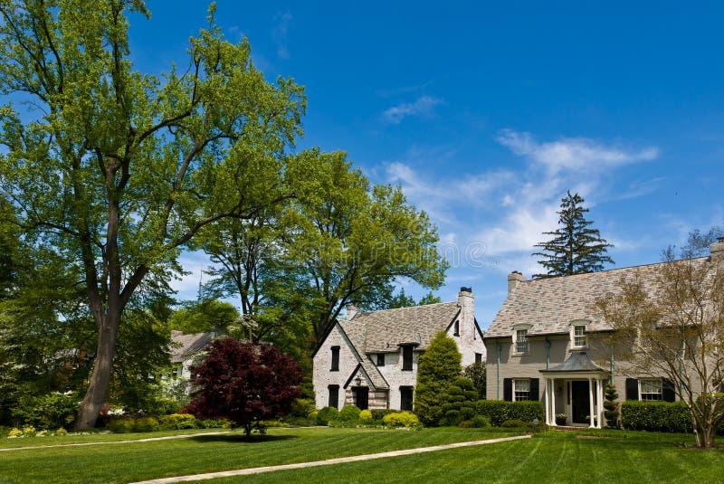 Oude Amerikaanse huizen royalty-vrije stock foto