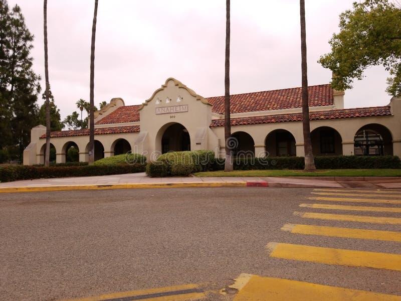 Oude Anaheim Santa Fe Train Depot stock afbeeldingen