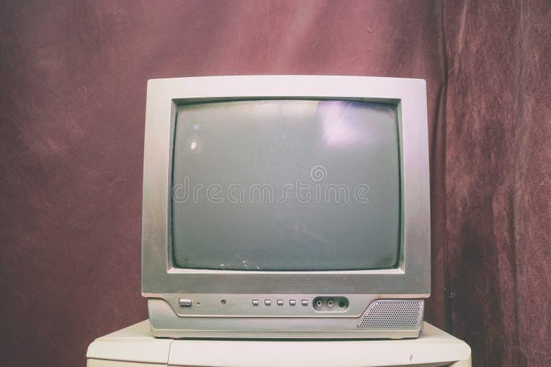 Oude analoge TV met kinescope royalty-vrije stock afbeelding