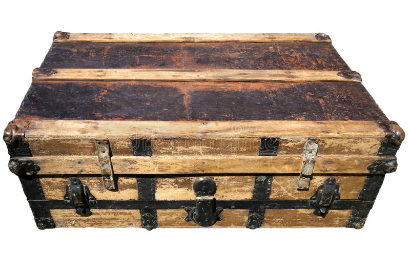 Oude Antieke Koffer royalty-vrije stock afbeelding