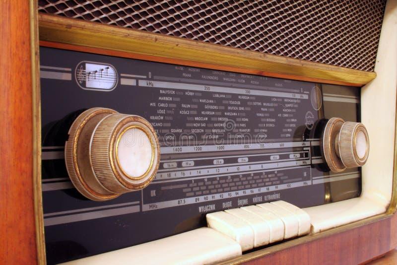 Oude antieke radio royalty-vrije stock foto