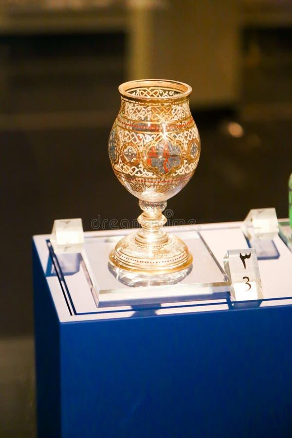 Oude antiquiteiten bij Islamitisch Kunstenmuseum - Sharjah royalty-vrije stock afbeelding