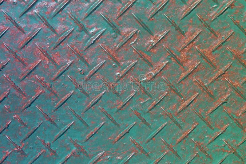 Oude antislip metaaltextuur - fantastische abstracte fotoachtergrond stock foto