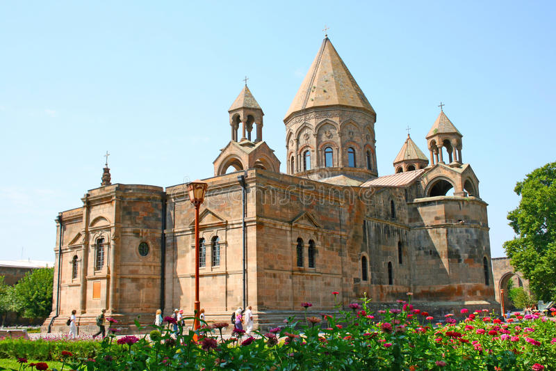 Oude Apostolische kerk in Armenië stock foto's