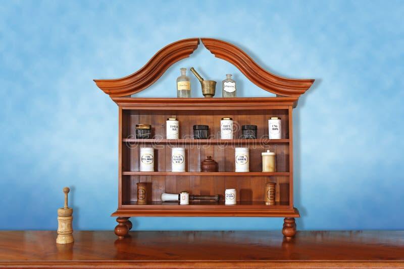 Oude apotheek royalty-vrije stock foto's