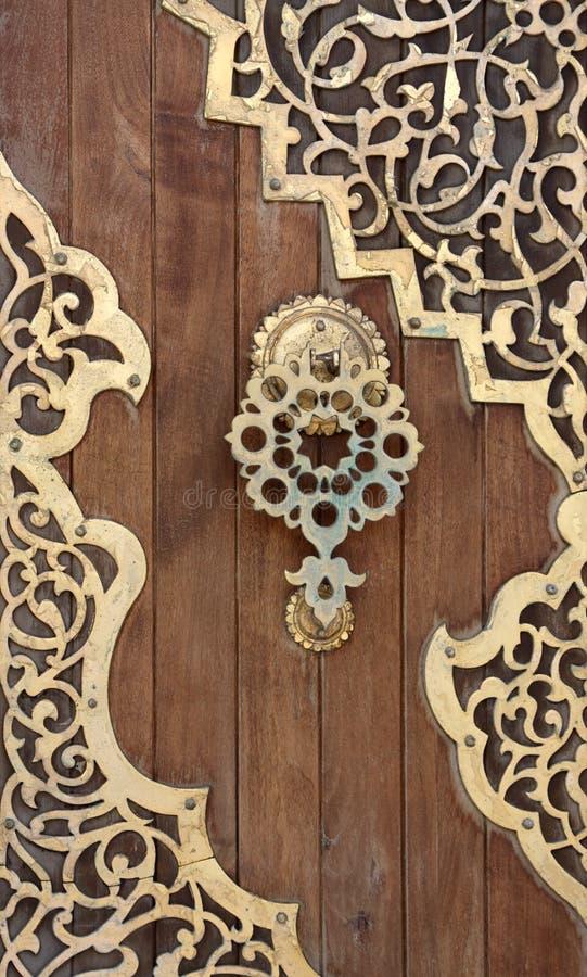 Oude Arabesque Deur, Libanon royalty-vrije stock foto's