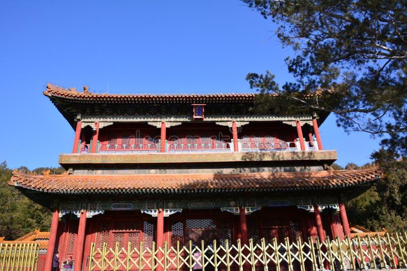 Oude architectuur in Peking stock afbeelding