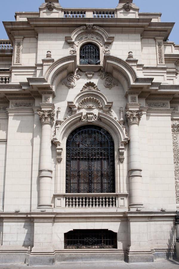 Oude architectuur van Lima, Peru. stock foto