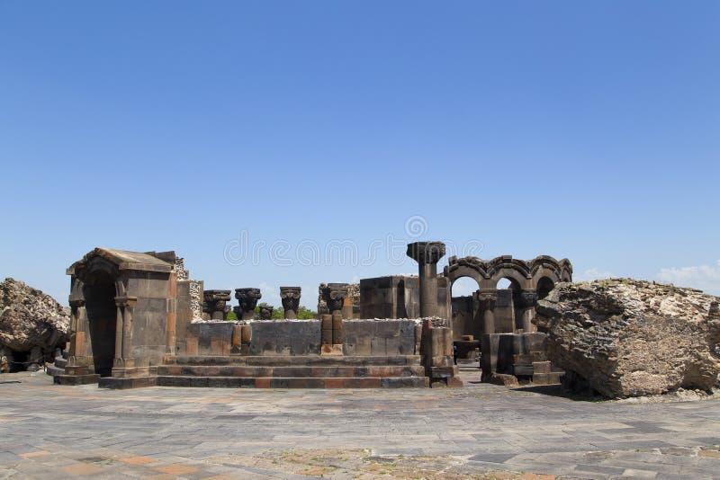 Oude Armeense Orthodoxe Kerk Zvarnots royalty-vrije stock afbeelding