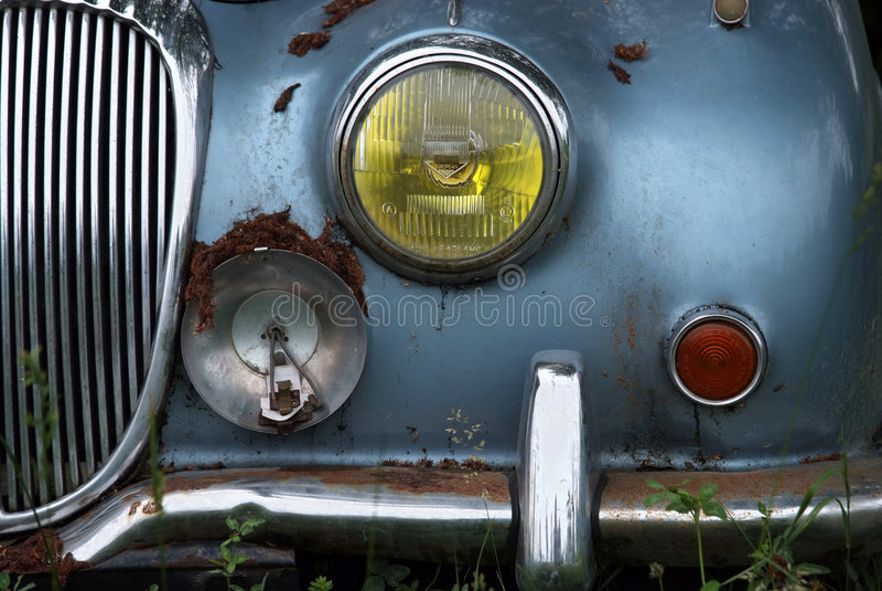 Oude auto (gezicht) stock foto's
