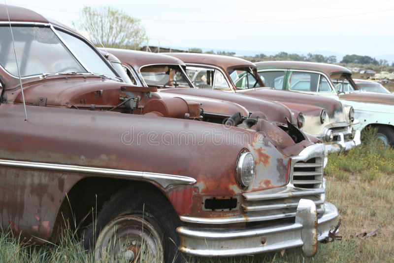 Oude auto's royalty-vrije stock fotografie