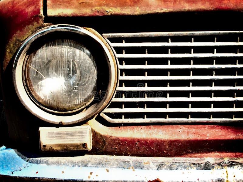 Oude autobumper royalty-vrije stock afbeeldingen