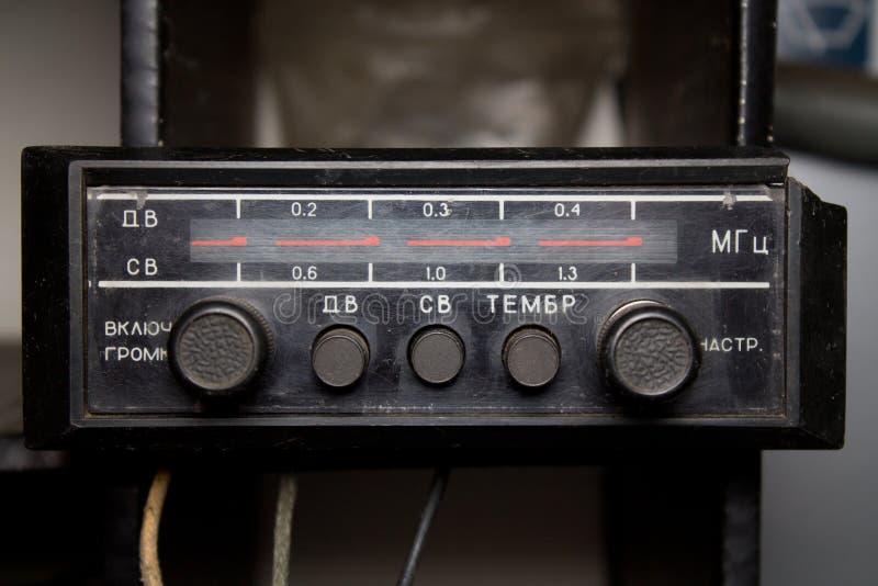 Oude autoradio stock foto
