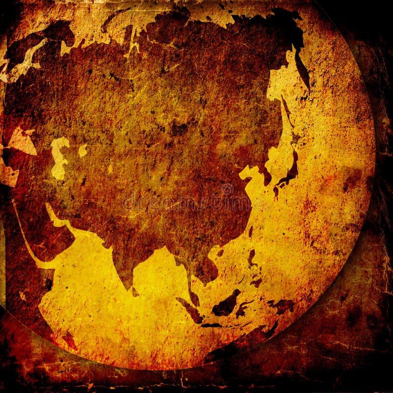Oude Azië kaart royalty-vrije illustratie