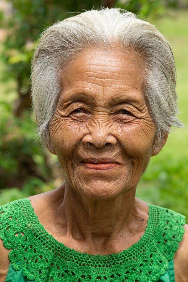 Oude Aziatische vrouwen stock foto