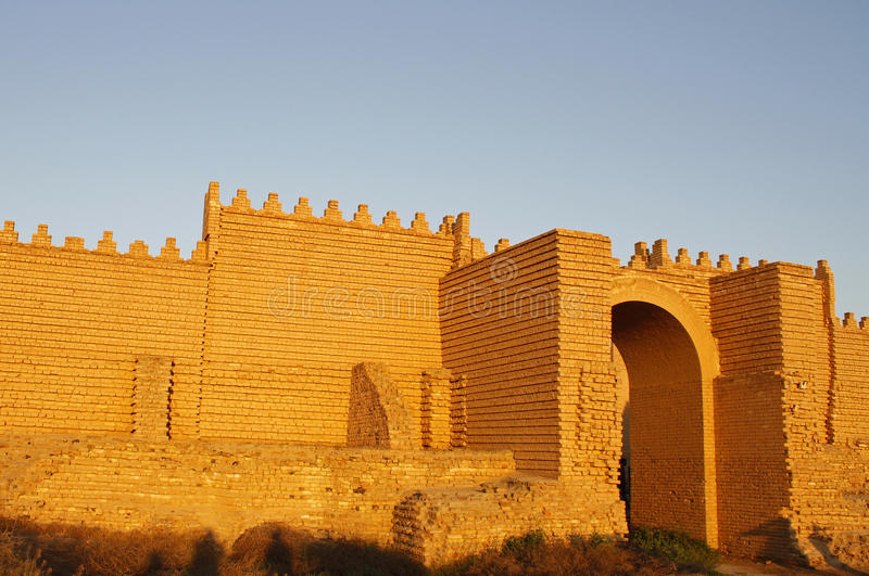 Oude Babylon royalty-vrije stock afbeelding