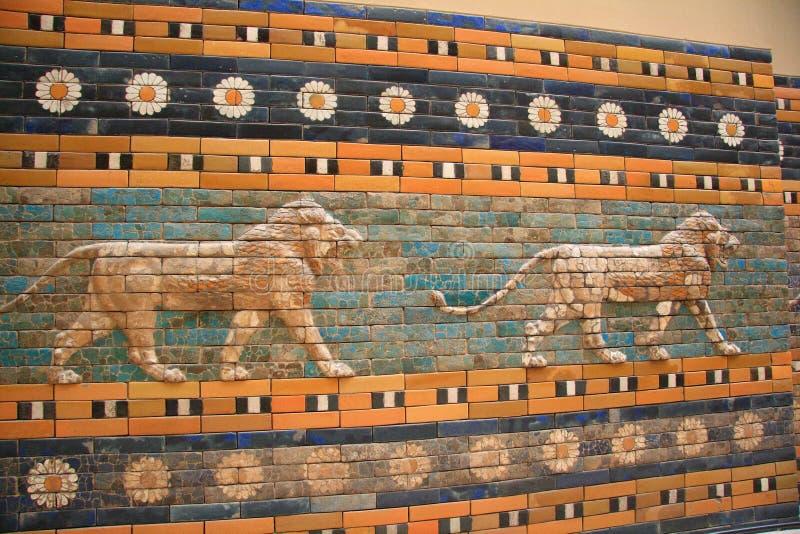 Oude Babylonian stadsmuur royalty-vrije stock afbeeldingen