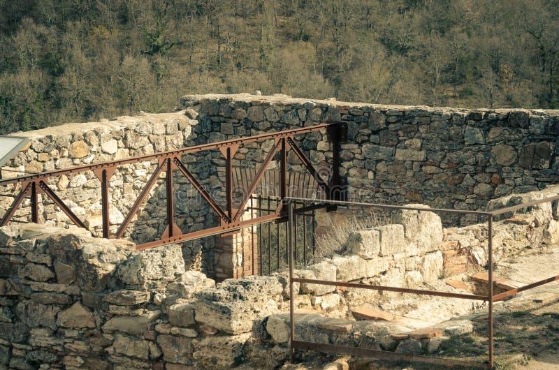 Oude baden van Bagno Vignoni royalty-vrije stock afbeeldingen