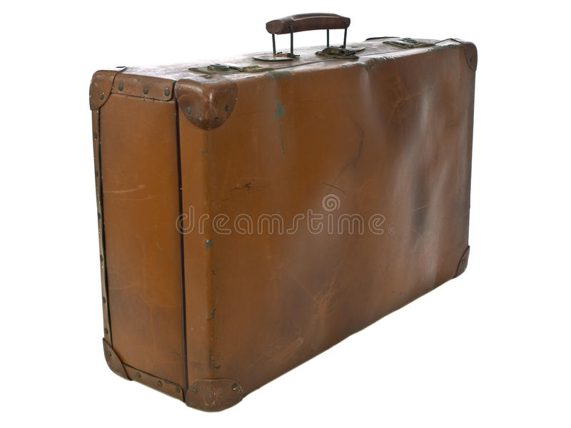 Oude bagage stock foto