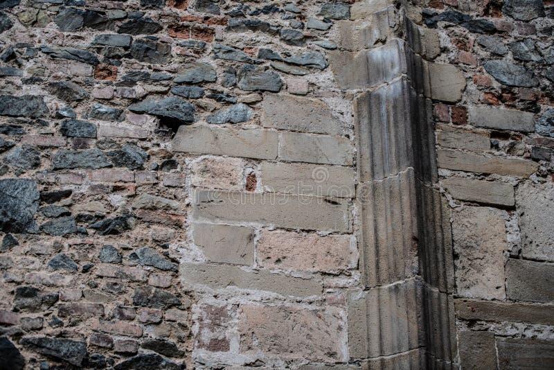 Oude bakstenen muren royalty-vrije stock fotografie