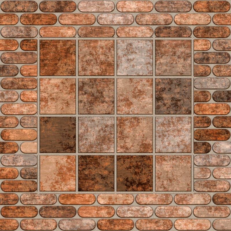 Oude bakstenen muur stock illustratie