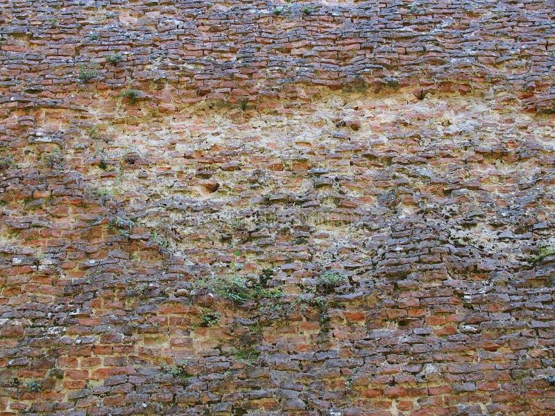 Oude Bakstenen muur, Italië royalty-vrije stock afbeelding