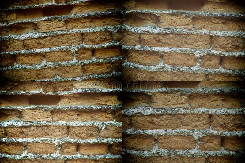 Oude bakstenen muur, steenachtergrond of rotsoppervlakte - goed voor website of mobiele apparaten stock foto