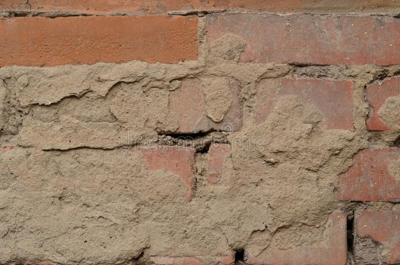 Oude Bakstenen muur Textuur, achtergrond stock foto's